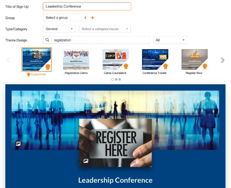 leadership conference sign up