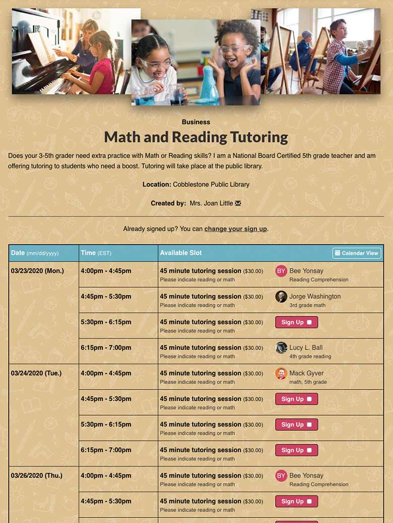Schedule After-School Tutoring