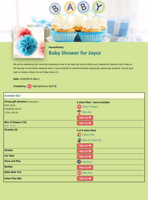 Plan Bridal and Baby Showers
