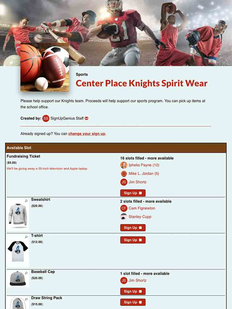Sell School Spirit Wear