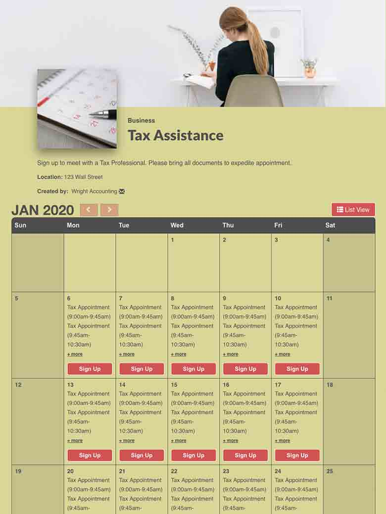 Collect Money for Tax Preparation