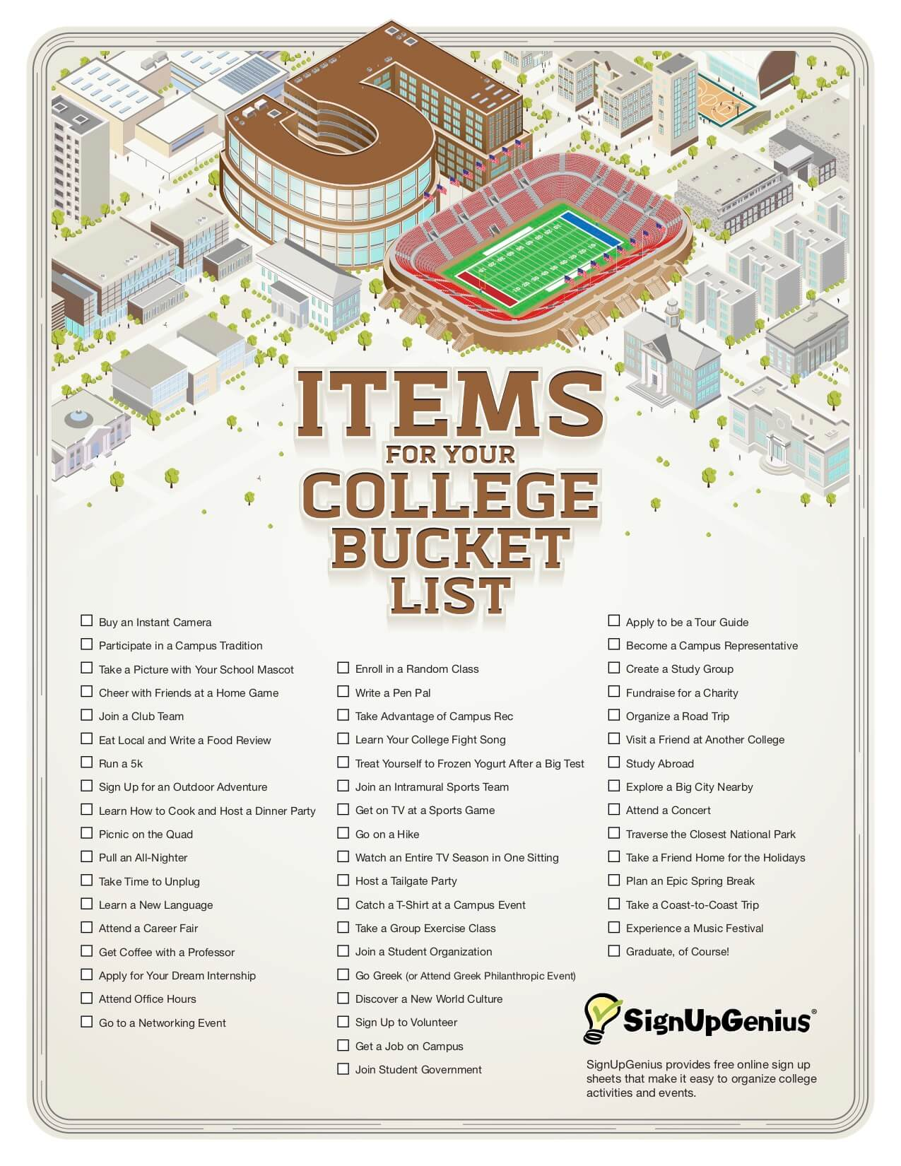 College Bucket List