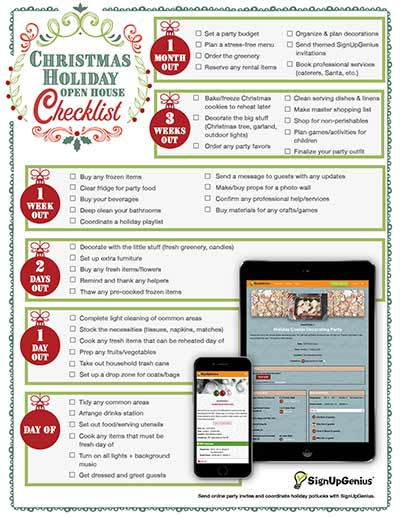 Christmas Open House Checklist