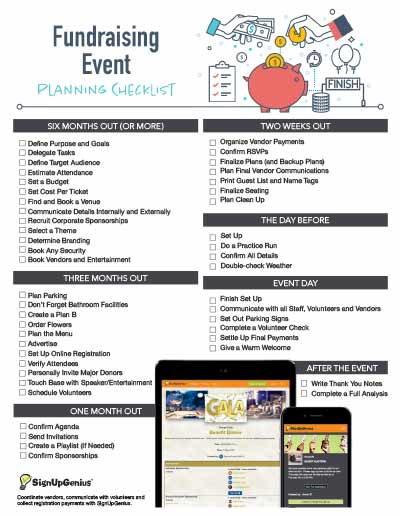 Fundraising Event Planning Checklist